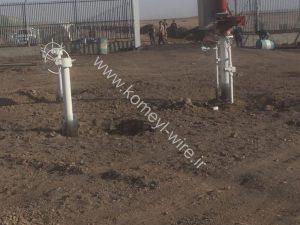 پروژه ايستگاه گاز سبزواراسفراين سیم خاردار خطی و حلقوی